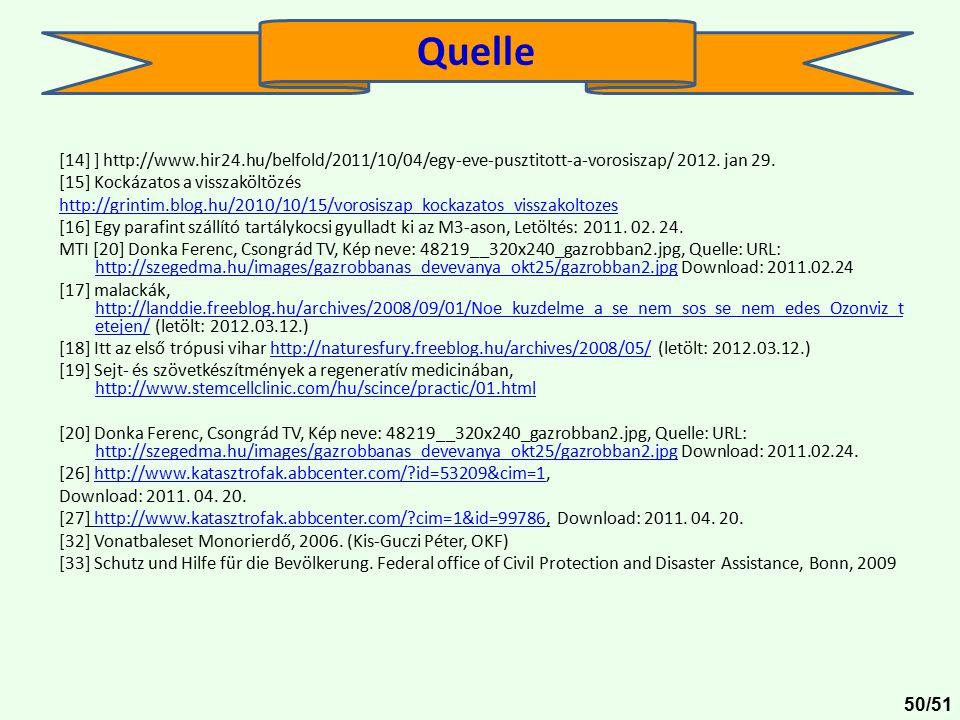 Quelle [14] ] http://www.hir24.hu/belfold/2011/10/04/egy-eve-pusztitott-a-vorosiszap/ 2012. jan 29.